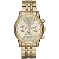 Buy Michael Kors Ladies Gold Tone Bracelet Chronograph Watch MK5676 online