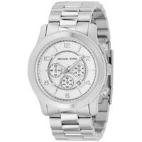 Buy Michael Kors Gents Silver Tone Bracelet Chronograph Watch MK8086 online