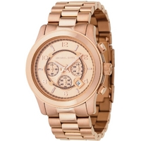 Buy Michael Kors Gents Rose Gold Tone Steel Bracelet Watch MK8096 online