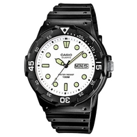 Buy Casio Collection Gents Classic Black Resin Strap Watch MRW-200H-7EVEF online