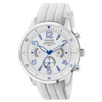 Buy Accurist Gents Chronograph White Rubber Strap Strap Watch MS920WW online