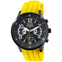 Buy Accurist Gents Chronograph Yellow Rubber Strap Strap Watch MS921BY online