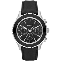 Buy DKNY Gents Sport Black Leather Strap Watch NY1515 online