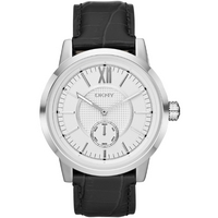 Buy DKNY Gents Casual Black Leather Strap Watch NY1520 online