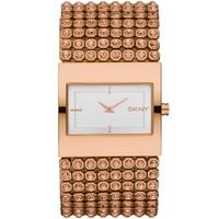 Buy DKNY Ladies Rose Gold Tone Steel Bracelet Watch NY8446 online