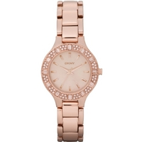 Buy DKNY Ladies Rose Gold Plated Bracelet Watch NY8486 online