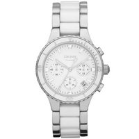 Buy DKNY Ladies Fashion White Bracelet Chronograph Watch NY8502 online
