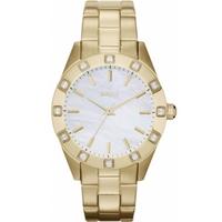 Buy DKNY Ladies Stone Set Gold Tone Bracelet Watch NY8661 online
