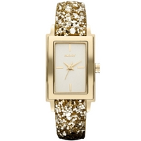 Buy DKNY Ladies Gold Tone Leather Strap Watch NY8713 online