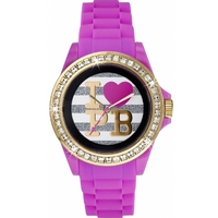 Buy Pauls Boutique Ladies Luna Purple Rubber Strap Watch PA003WHPK online