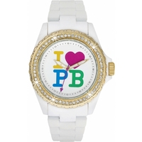 Buy Pauls Boutique Ladies Luna White Rubber Strap Watch PA005WHGD online