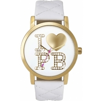 Buy Pauls Boutique Ladies Mia White Leather Strap Watch PA007WHGD online