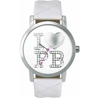 Buy Pauls Boutique Ladies Mia White Leather Strap Watch PA007WHSL online