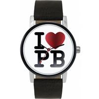 Buy Pauls Boutique Ladies Mia Black Leather Strap Watch PA012CH online