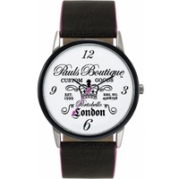 Buy Pauls Boutique Ladies Mia Black Leather Strap Watch PA013BK online