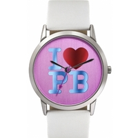 Buy Pauls Boutique Ladies Mia White Leather Strap Watch PA013WHSL online