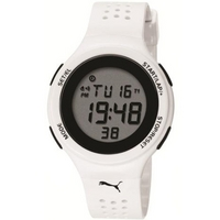 Buy Puma Gents Faas 200 Digital White Resin Sport Strap Watch PU910931002 online