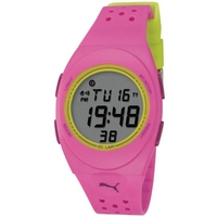 Buy Puma Ladies Faas 250 Digital Pink Resin Sport Strap Watch PU910942004 online