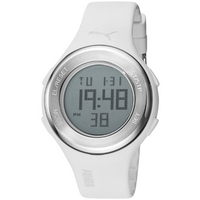 Buy Puma Gents Loop Steel Digital White Resin Sport Strap Watch PU910981002 online