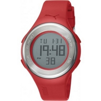 Buy Puma Gents Loop Steel Digital Red Resin Sport Strap Watch PU910981006 online