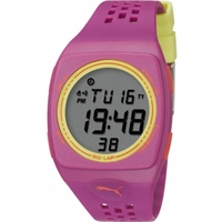 Buy Puma Ladies Faas 300 Digital Purple Resin Sport Strap Watch PU910991005 online