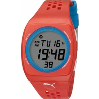 Buy Puma Gents Faas 300 Digital Red Resin Sport Strap Watch PU910991007 online