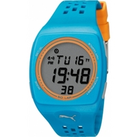 Buy Puma Gents Faas 300 Digital Blue Resin Sport Strap Watch PU910991008 online