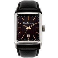 Buy Ben Sherman Gents Black Dial Black Leather Strap Watch R778 online