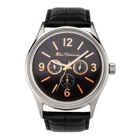 Buy Ben Sherman Gents Black Dial Black Leather Strap Watch R803 online