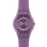Buy Swatch Ladies Skin Purple Ivory Softness Watch SFV107 online