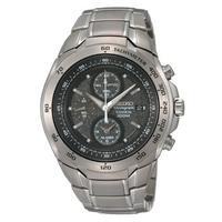 Buy Seiko Gents Titanium Chronograph Alarm Watch SNAB91P1 online