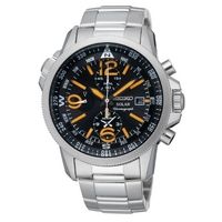 Buy Seiko Gents Solar Powered Chronograph Watch SSC077P1 online