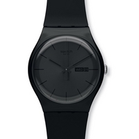 Buy Swatch Gents Black Rebel Watch SUOB702 online