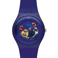 Buy Swatch Unisex Purple Lacquered Skeleton Watch SUOV100 online