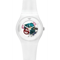 Buy Swatch Ladies White Lacquered Skeleton Watch SUOW100 online