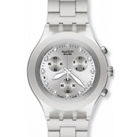 Buy Swatch Gents Irony Chrono Full Blooded Silver Watch SVCK4038G online