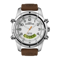 Buy Timex Gents Expedition Brown Leather Strap Chronograph Watch T49828SU online