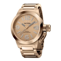 Buy T W Steel Canteen 40mm Rose Gold Tone Steel Bracelet Watch TW303 online
