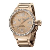 Buy T W Steel Canteen 40mm Rose Gold Tone Steel Bracelet Watch TW305 online