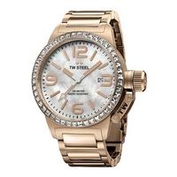 Buy T W Steel Canteen 40mm Rose Gold Tone Steel Bracelet Watch TW306 online