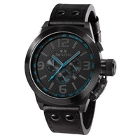 Buy T W Steel Cool Black Leather Strap Chronograph Watch TW904 online