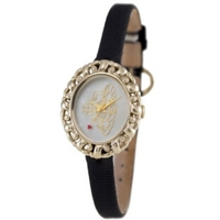 Buy Vivienne Westwood Ladies Rococo Leather Strap Watch VV005CMBK online
