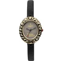 Buy Vivienne Westwood Ladies Black Leather Strap Watch VV005SMBK online