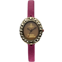Buy Vivienne Westwood Ladies Purple Leather Strap Watch VV005SMBY online