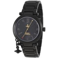 Buy Vivienne Westwood Ladies Orb Black Steel Bracelet Watch VV006BK online