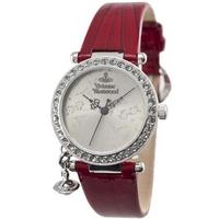 Buy Vivienne Westwood Ladies Orb Red Leather Strap Watch VV006SLRD online
