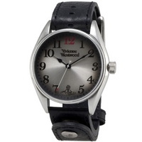 Buy Vivienne Westwood Gents Heritage Black Leather Strap Watch VV012BK online