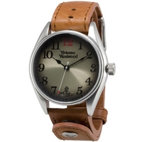 Buy Vivienne Westwood Gents Heritage Brown Leather Strap Watch VV012TN online