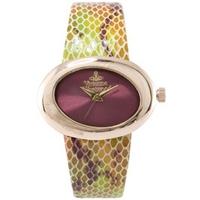 Buy Vivienne Westwood Ladies Ellipse Leather Strap Watch VV014RS online
