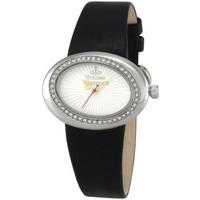 Buy Vivienne Westwood Ladies Ellipse Black Leather Strap Watch VV014SLBK online